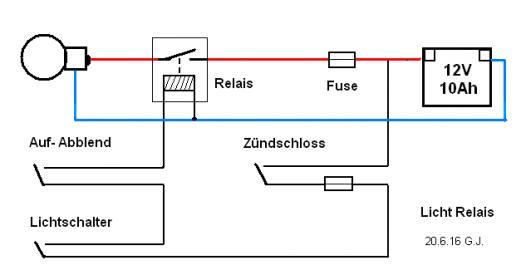 Fein Wie Man Strahler An Ein Relais Anschließt Galerie - Elektrische ...